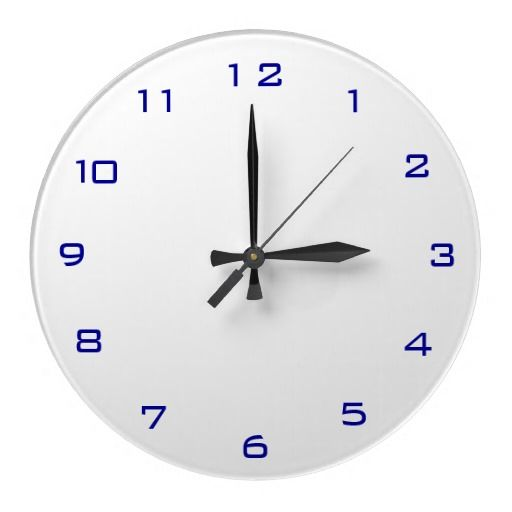 Blue Kitchen Wall Clocks