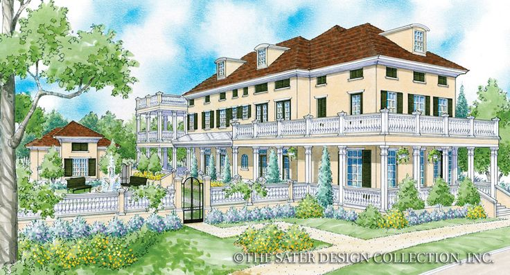130 best renderings sater design luxury house plans - Traditional neighborhood design house plans ...