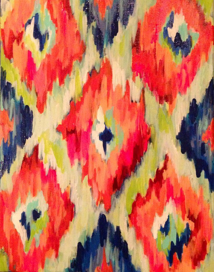 """Ikat"" - July 2013. By Margaret Ellen Crawford I WANT THIS MARGARET!!!"