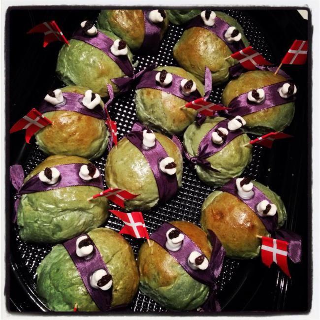 Ninja turtles (fødselsdags)boller