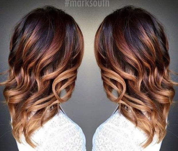 Coiffure meche marron