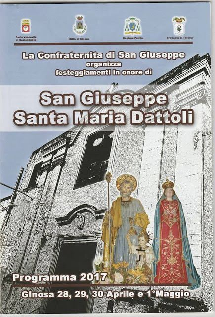 Portodimare - I Riti della Settimana Santa a Taranto: Ginosa, le feste di aprile in onore di Santa Maria...