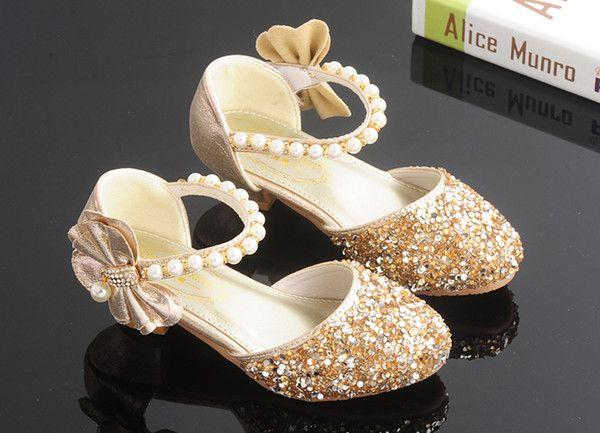 Lovely Pink Gold Silver Flower Girls