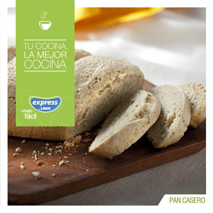 Pan casero. #Recetario #Receta #RecetarioExpress #Lider #Food #Foodporn #Bread…