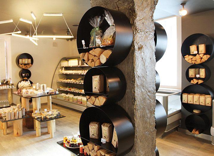 Примитивистский дизайн магазина натуральных продуктов в Москве