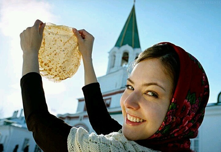 Russian holiday Maslenitsa celebrates end of winter. Lots of blini is eaten this week.