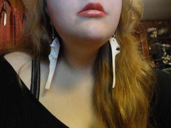 Deer Ulna Bone Earring Set small by ThePaleRealm on Etsy, $17.00