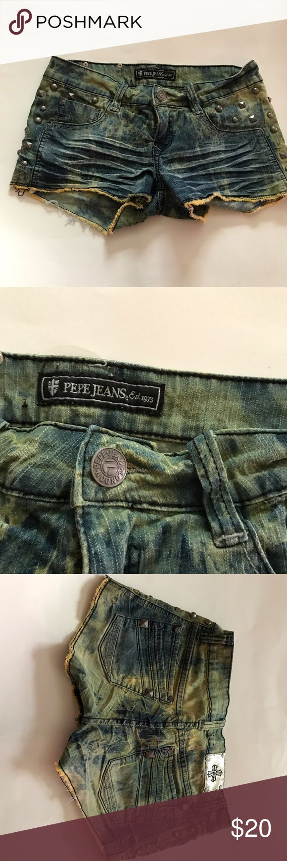 PePe Jeans  Shorts size 29 good condition size 29 with studs on them. Pepe Jeans Shorts