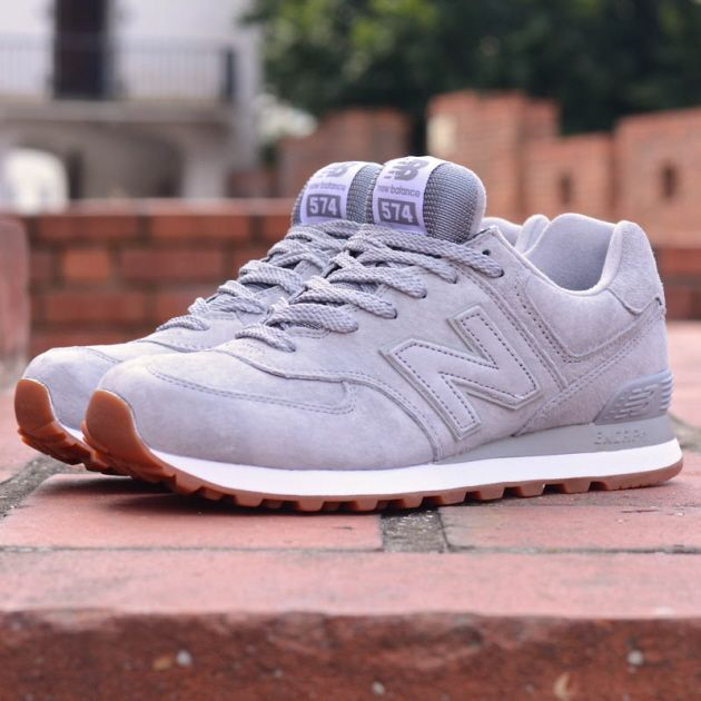 new balance 574 white gum