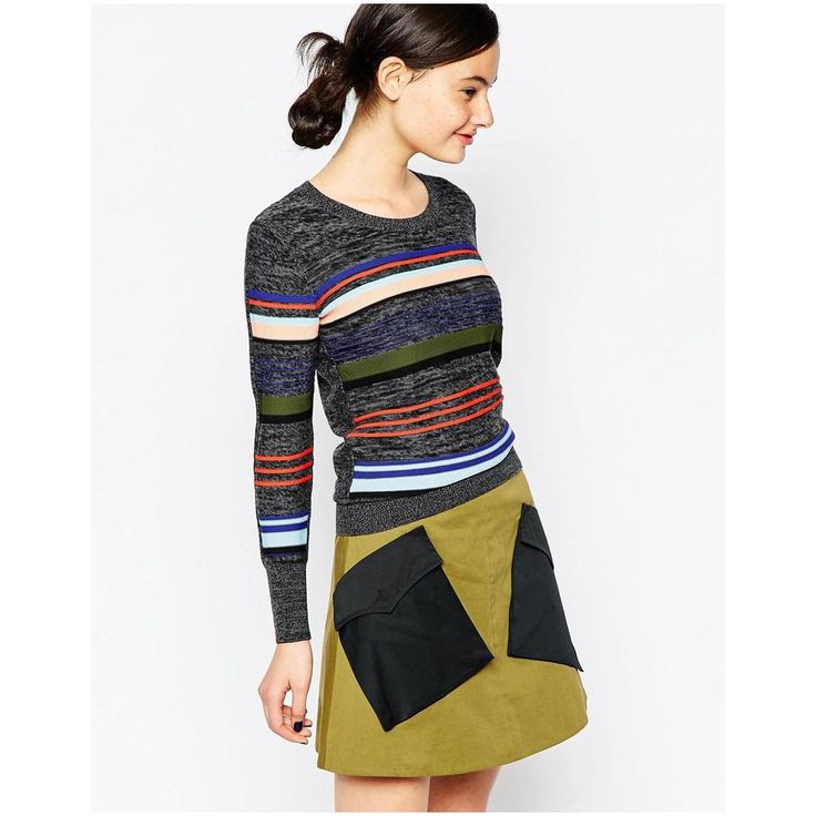 Women-s-Multi-Striped-Sweater-