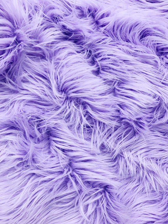 Bianna Lavender Faux Fur Fabric Piece High Quality Thick Long 2 Pile Pastel Pale Diy Craft Gnomes Supplies Square Less Than A Yard Lavender Aesthetic Purple Aesthetic Purple Wallpaper Iphone