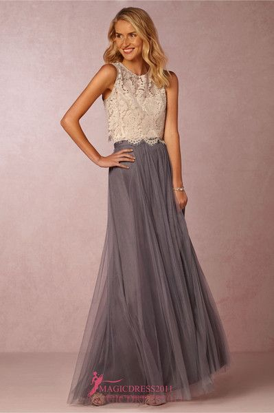 cheap gorgeous beach boho vintage bridesmaid dresses bhldn 2016 cheap a line jewel evening gowns grey burgundy garden wedding guest party dress as low as