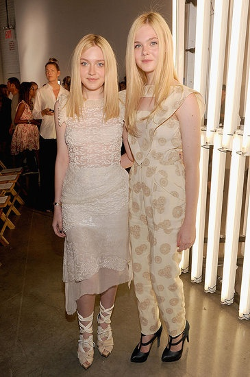 Dakota and Elle Fanning... they are like middle aged ladies trapped in teenage bodies