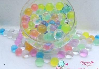 Кристалл почвы грязи вода бусины био-коллаген гель мяч для цветок прополочных украшение 10 пакет / много