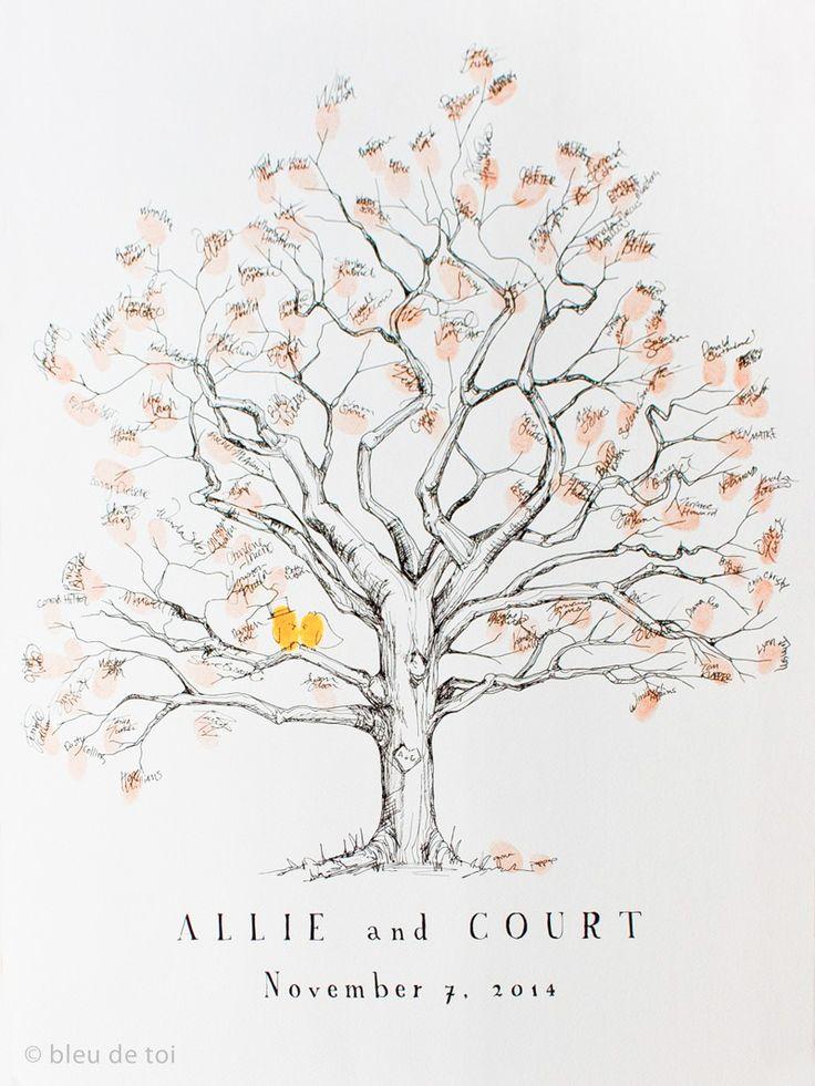 Está procurando uma ideia original para registrar as assinaturas dos convidados do seu casamento? A árvore de impressões digitais ou fingerprint tree é uma