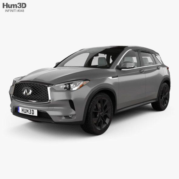 Infiniti Qx50 With Hq Interior 2019 In 2020 Infiniti 3d Model Car 3d Model