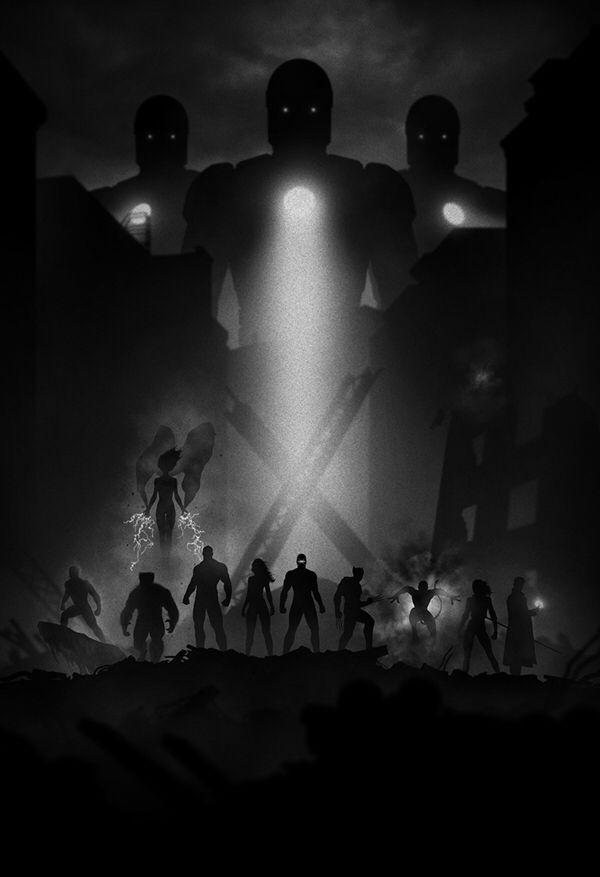 Film Noir Art - X-Men