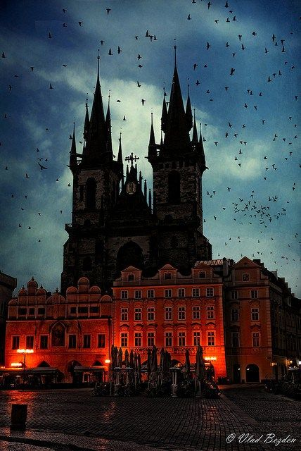 Spires at Dusk, Prague, Czech Republic. In the winter absolutely breath taking!