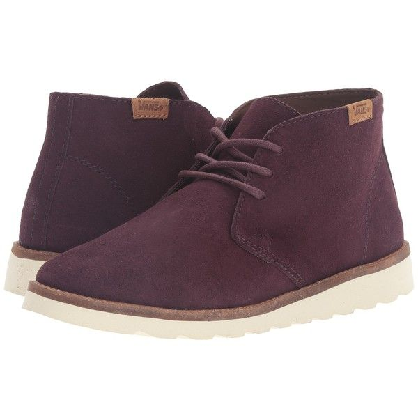 Vans Desert Chukka (Iron Brown) Women's Lace-up Boots ($90) ❤ liked on Polyvore featuring shoes, boots, vans boots, brown lace up boots, suede chukka boots, brown suede shoes and brown shoes