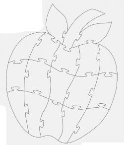 Яблоко. Чертеж