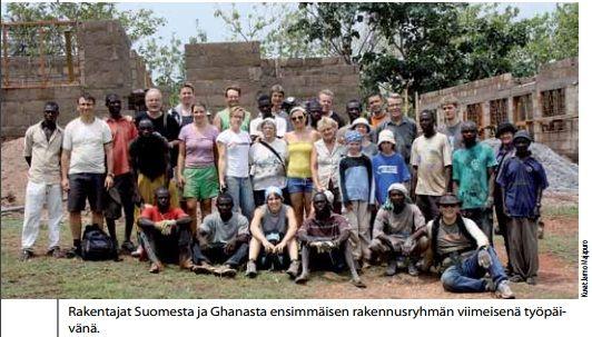 GHANA -PROJEKTI - Minulla oli etuoikeus osallistua Namong 2011 -projektiin, jonka aikana rakennettiin Namongin kylään klinikka ja terveysasema, jotta alueen 200 000 asukkaille voidaan tarjota lääkäripalveluita ja turvata muun muassa raskaana olevien naisten terveys.