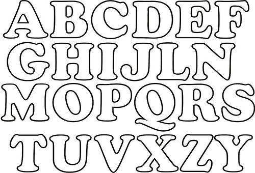 Sala de Aula - Profª Rérida: Moldes de letras para E.V.A