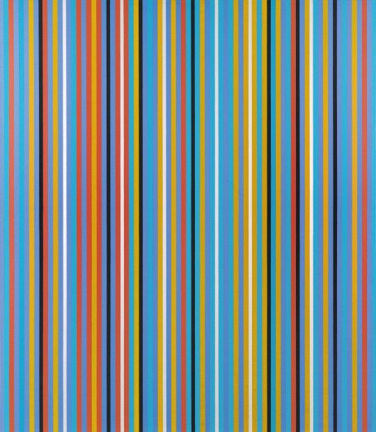 Still time to catch Bridget Riley's Stripe paintings  at the David Zwirner Gallery in London