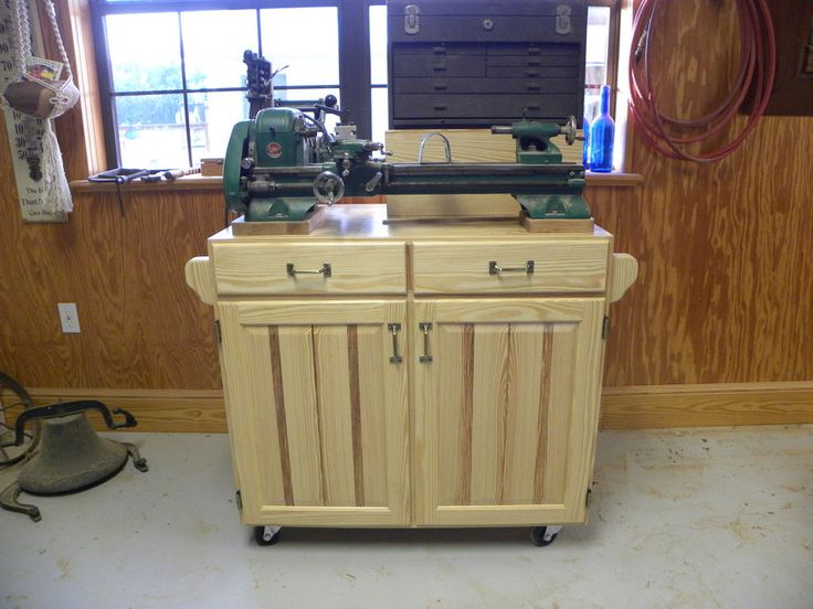 Base cabinet for small metal lathe - by Schwieb @ LumberJocks.com ~ woodworking community