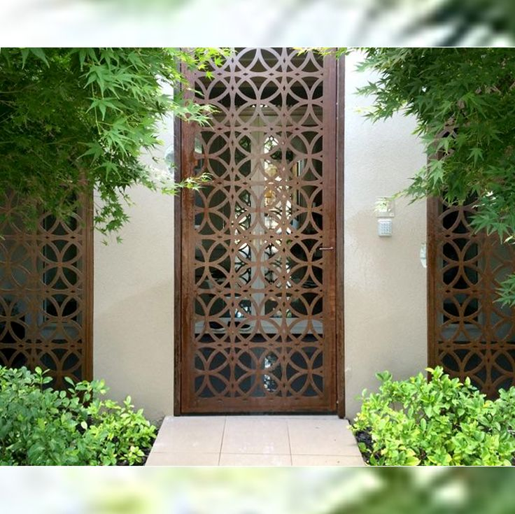 More designer custom screen doors available at https://www.entanglements.com.au/products/security.html