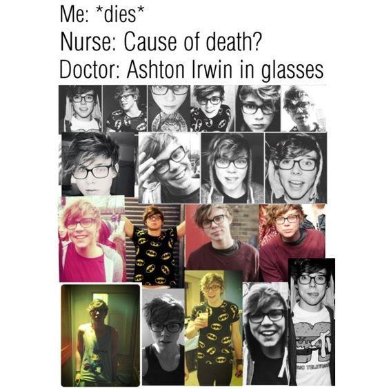 Resultado de imagen para ashton irwin con gafas