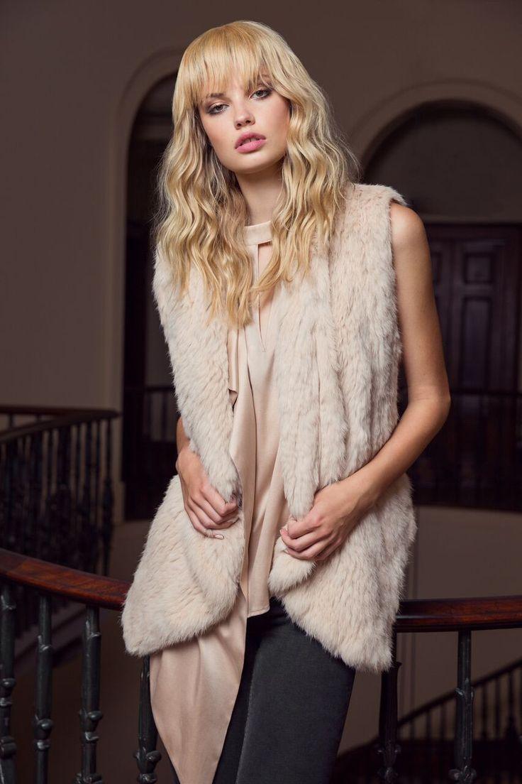 Luxe Deluxe - Lush Luxe Fur Vest In Desert Rose