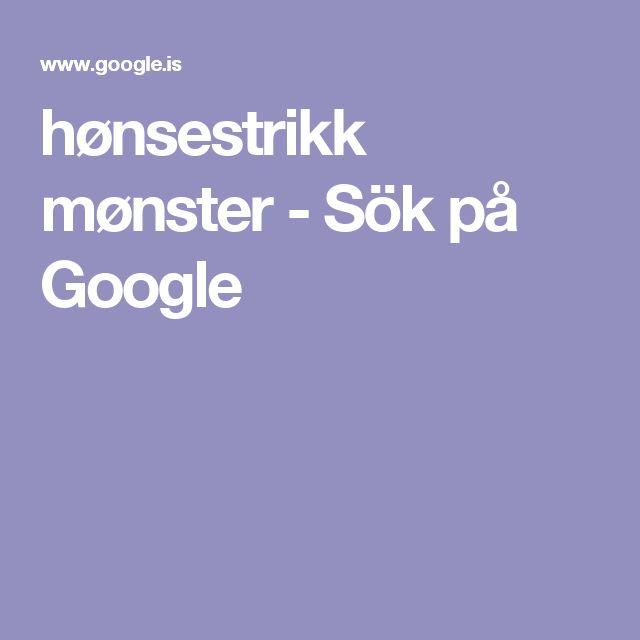 hønsestrikk mønster - Sök på Google