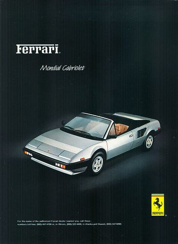 1984 Ferrari Mondial Cabriolet by aldenjewell, via Flickr