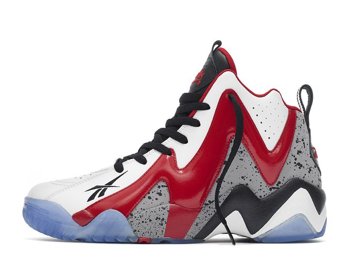 Buy On Sale Reebok Kamikaze II Mid Shoes Trail Blazers White Red Black from  Reliable On Sale Reebok Kamikaze II Mid Shoes Trail Blazers White Red Black  ...
