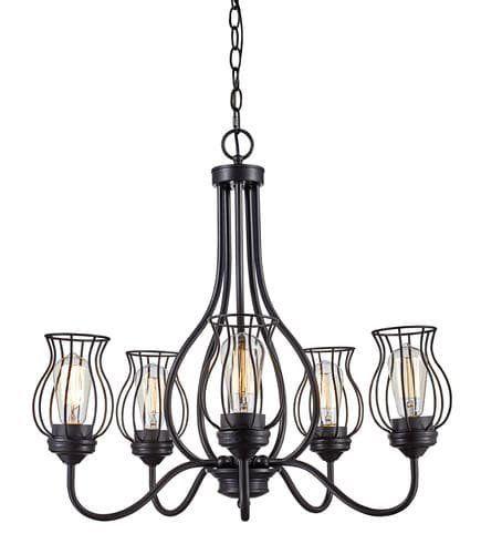 77 best kitchen images on pinterest chandelier chandelier bel air lighting industrial cage 5 light chandelier bel a mozeypictures Images