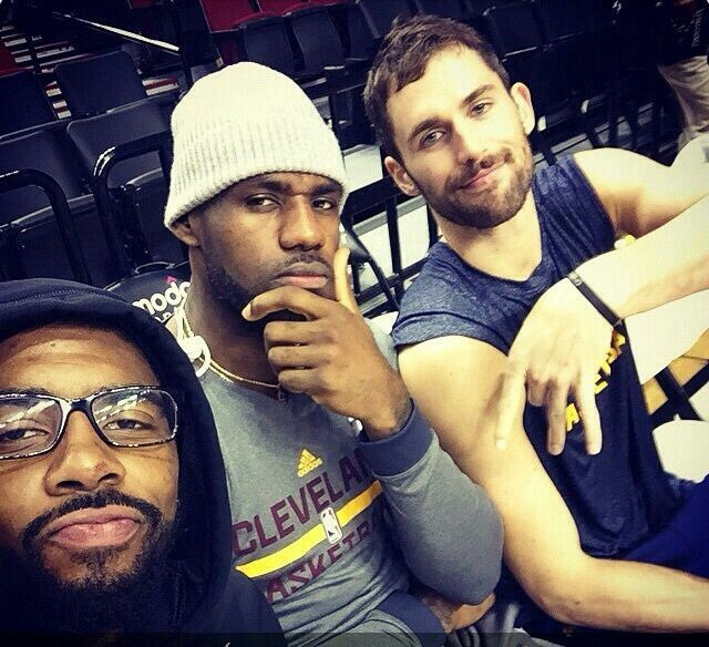 Kyrie Irving, Kevin Love & LeBron #cleveland #cavilers