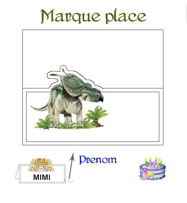 marque place anniversaire dinosaure pinterest lieux. Black Bedroom Furniture Sets. Home Design Ideas