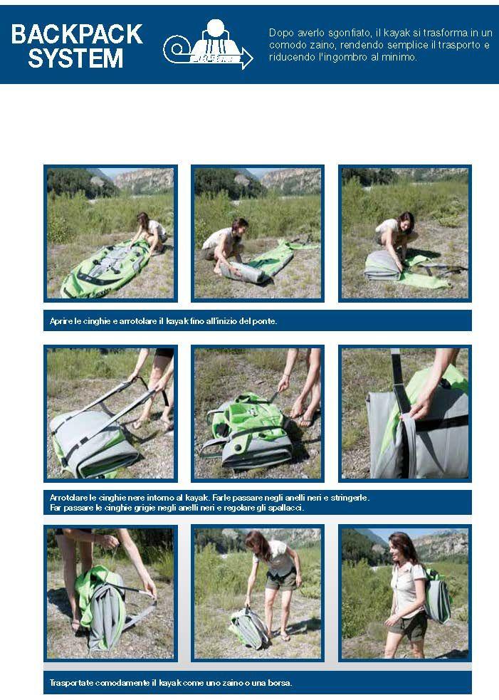 Caspita , più facile da trasportare di così ! Ah si tratta di un kayak a due posti. Non male , cosa dite ?  scopri di più