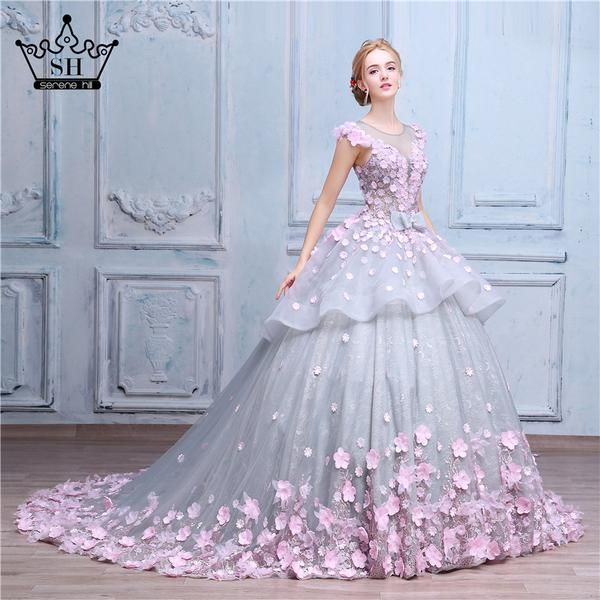 Luxury Ball Gown Wedding Dresses Online Princess Sweetheart Pink Prom Evening Dress Handmade Mad Flower Prom Dress Ball Gowns Wedding Wedding Dresses For Girls,Winter Wonderland Themed Wedding Dresses