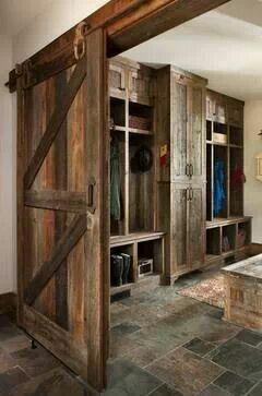 Rustic/ farm mud room