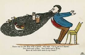 Always find Edward Lear figures funny but the whole fat man with beard is done to death now