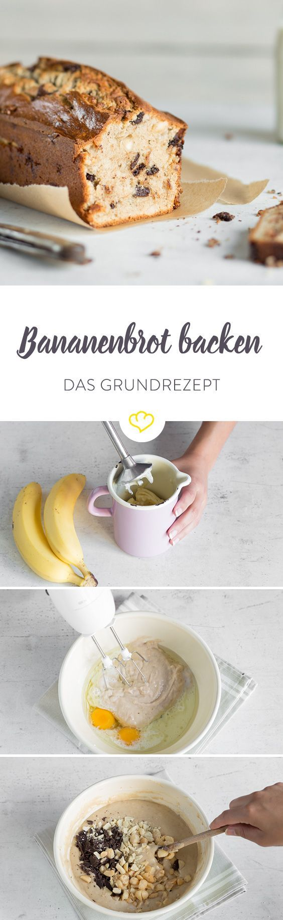 Das Bananenbrot. Ein Grundrezept - unendlich Varianten! Aber all sie, beginnen hier!