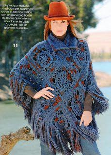 Crocheteando a little: Poncho square