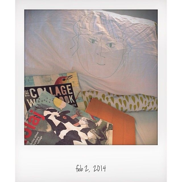 Alas laying low with a head cold #mylifeinpolaroid