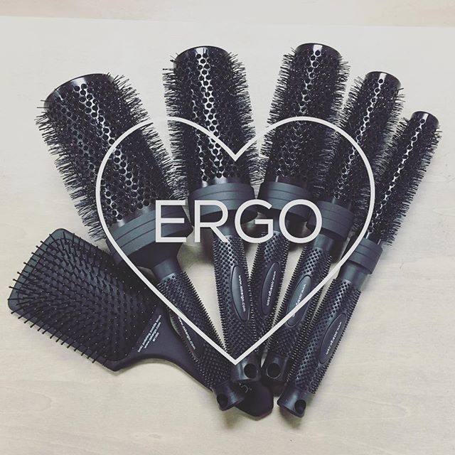 So excited to join the @ergostylingtools family 😊 Ask your stylist how these brushes will change your at-home hair game! #growsalon #ergobrushes #athomestyling #greathair #goodhairdayeveryday