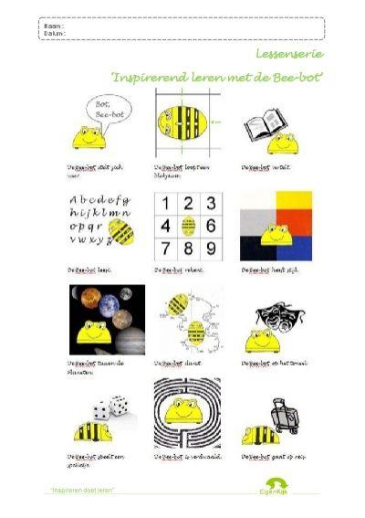 Naam: Datum: Bee< Naam: Datum: Aanpak lessen Elke les uit de lessenreeks 'Inspirerend