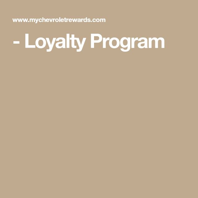 Loyalty Program Loyalty Program Loyalty Programming