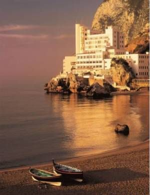The Caleta Hotel Self-Catering Apartments Gibraltar With wonderful views across the Mediterranean Sea, The Caleta Hotel offers award-winning food and a modern leisure centre. The hotel is on the tranquil eastern side of the Rock of Gibraltar.