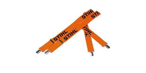 Tirantes elásticos para pantalones - Naranja.