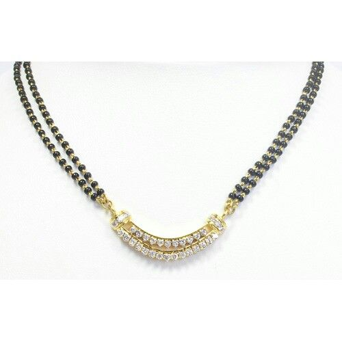 Double diamond Mangalsutra